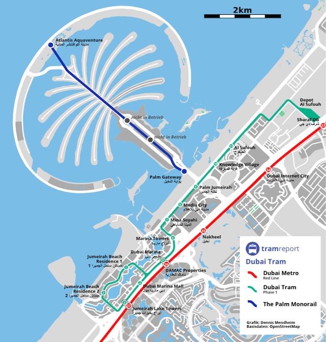 Dubai Monorail Tram Plan