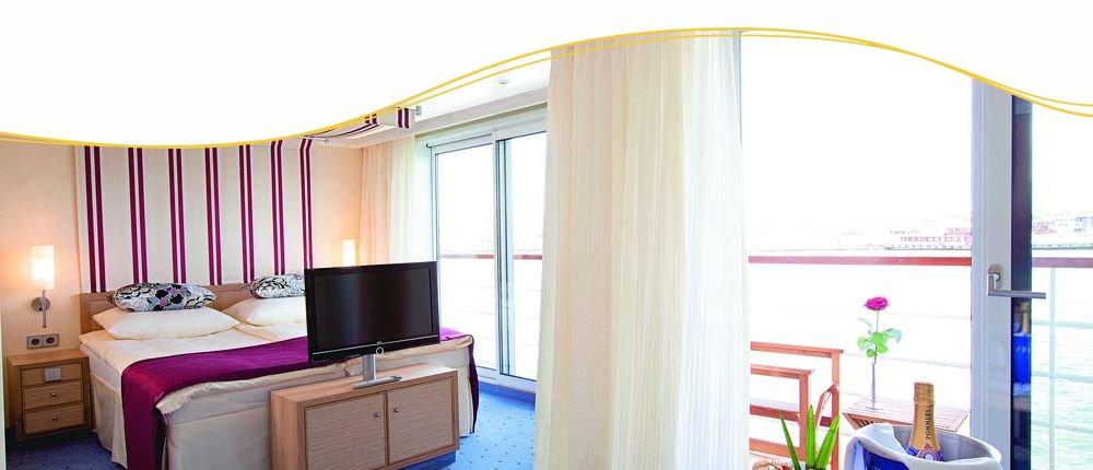 komfortable Suiten auf A-ROSA SILVA