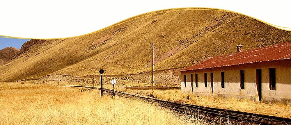 Bahnstation La Roya der Andenbahn