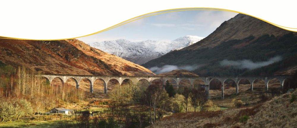 Glenfinann Viadukt, Schottland