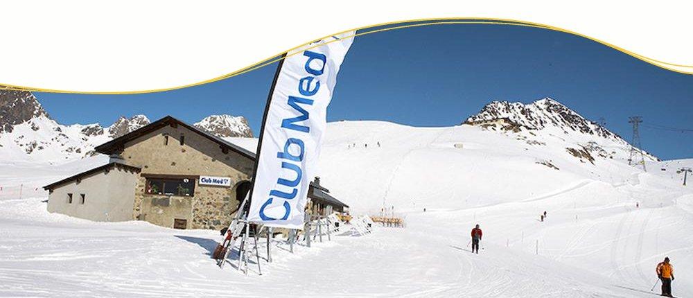 Ski Alpin im Club Med in St. Moritz, Schweiz