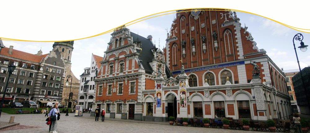 Schwarzhaeupterhausin Riga, Lettland