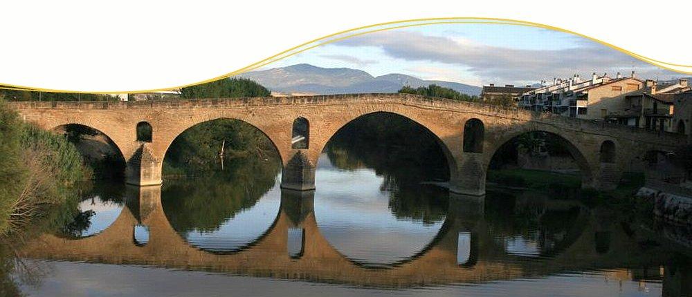 Puente la Reina am Jacobsweg, Spanien