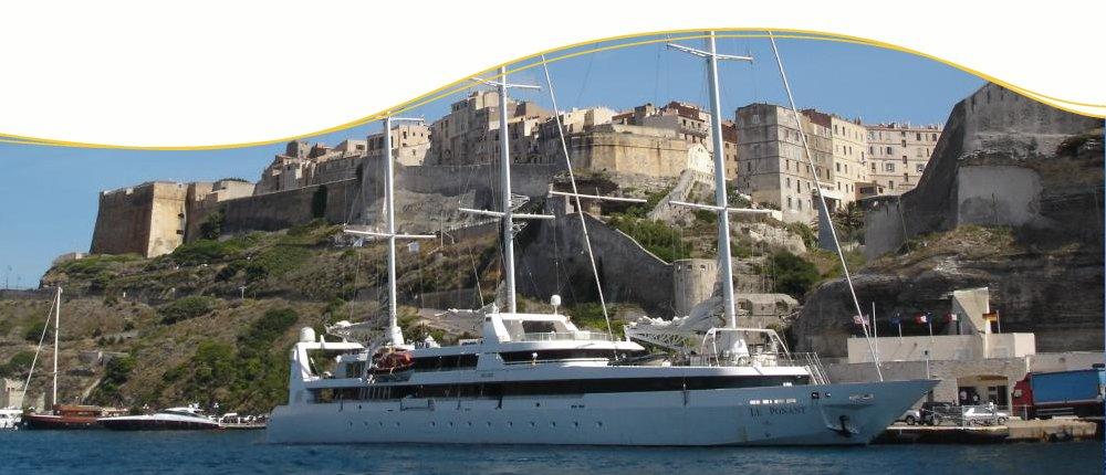 Le Ponant in Bonifacio, Korsika