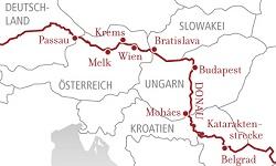 Routenübersicht AROSA Flusskreuzfahrten