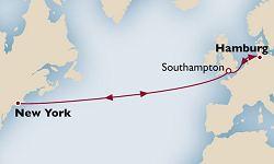 Cunard Line Routenübersicht