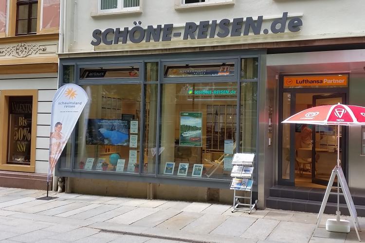 Reisebüro SCHÖNE-REISEN in Dresden auf der Hauptstraße