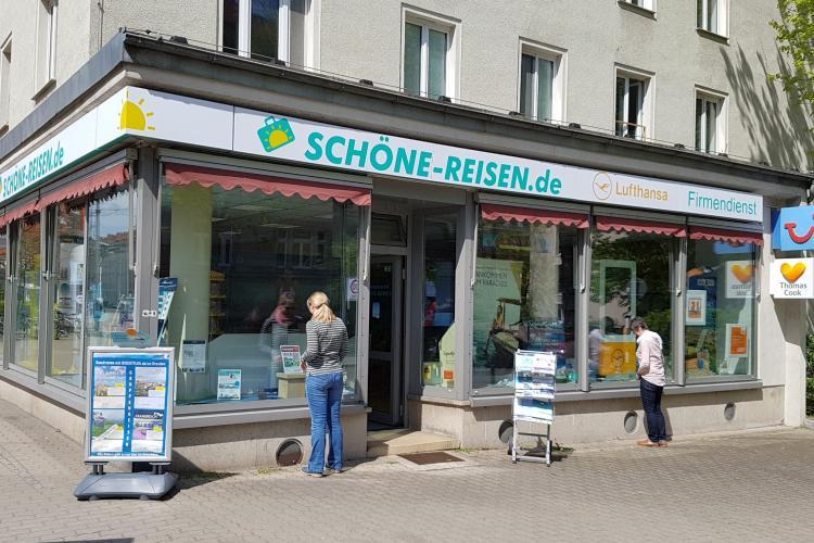 Reisebüro SCHÖNE-REISEN in Dresden am Nürnberger Ei