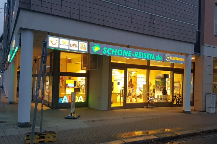 Reisebüro SCHÖNE-REISEN in Dresden in der SchillerGalerie