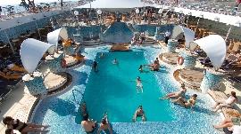 Pool auf MSC Kreuzfahrtschiff