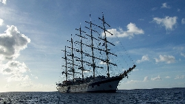 Royal Clipper ohne Segel