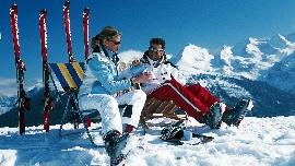 Sonnenbad im Skiurlaub :-)