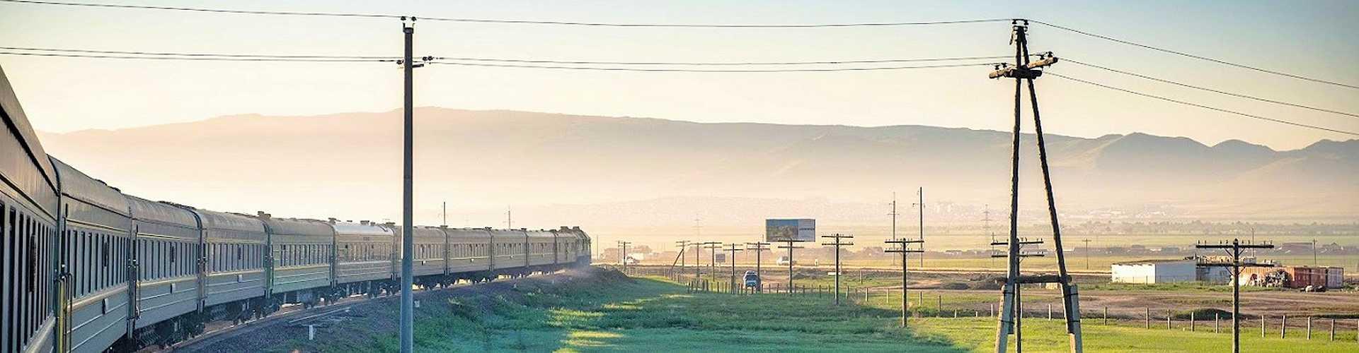 Transsibirische Eisenbahn am Baikalsee, Russland